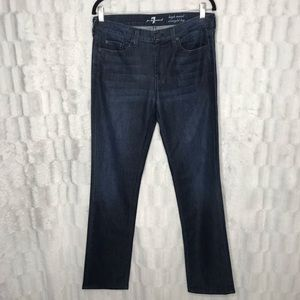 7 For All Mankind High Waist Straight Leg Jeans
